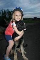 Girl Hugging Brady